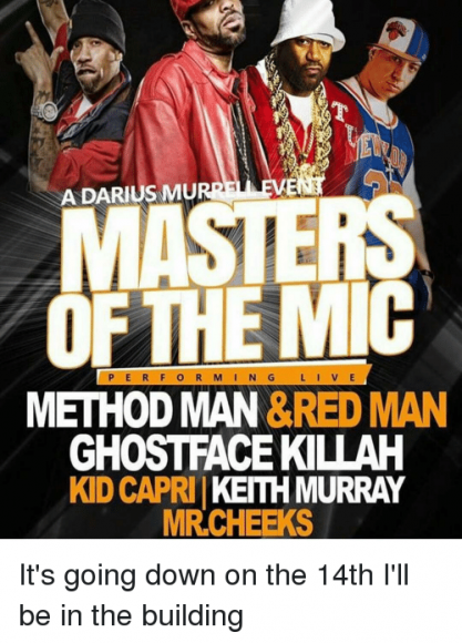 Masters of the Mic: Method Man, Redman, Raekwon & Ghostface Killah at MGM Grand Theater at Foxwoods